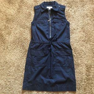 MICHAEL MICHAEL KORS Navy Blue Dress Waist string